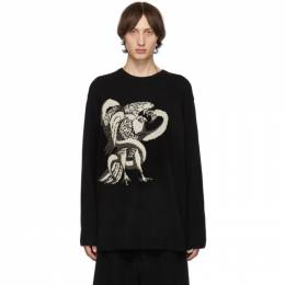 Yohji Yamamoto Black Eagle Snake Crewneck Sweater 192573M20100101GB