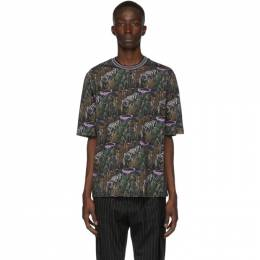 3.1 Phillip Lim Black Print Boxy T-Shirt 192283M21300203GB