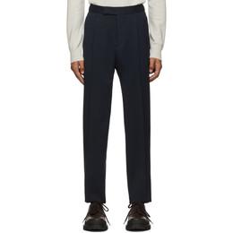 Ermenegildo Zegna Navy Wool Cinch Trousers 192264M19100705GB