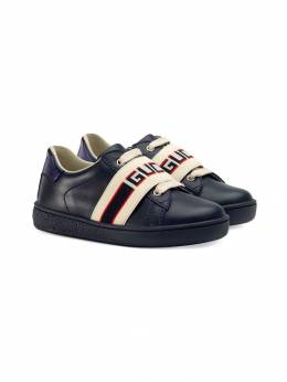 Gucci Kids - кеды Ace с полосками Gucci 9566IIR6933336690000