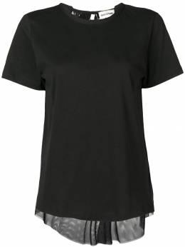 Semicouture - футболка с плиссировкой на спине F6393865959000000000