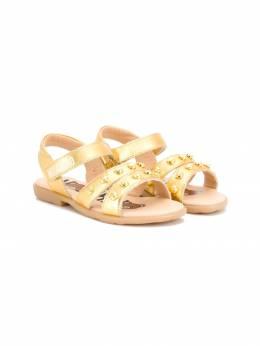 Moschino Kids - сандалии Teddy bear с заклепками C9606096933596330000