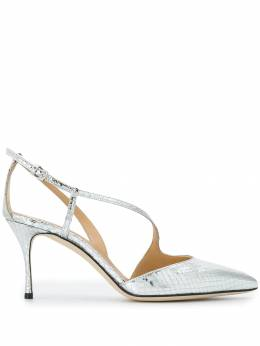Sergio Rossi - туфли-лодочки с эффектом под кожу рептилий 039MCAL6993359036000