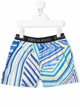 Emilio Pucci Junior - шорты с полосатым узором 609KB366933809960000