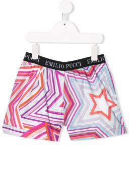 Emilio Pucci Junior - шорты с абстрактным принтом 609KB366933809930000