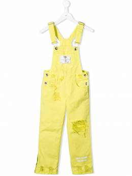 Msgm Kids - джинсовый комбинезон с прорезями 39993896396000000000