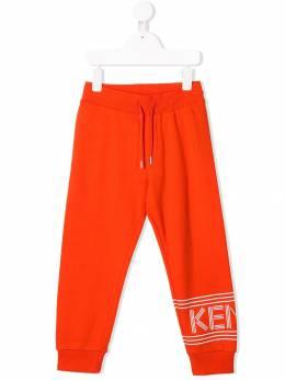 Kenzo Kids - спортивные брюки с логотипом 35689338639000000000