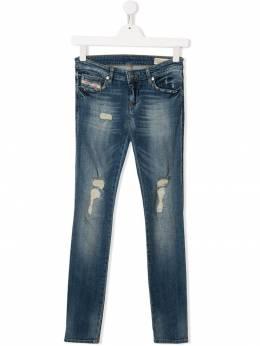 Diesel Kids - джинсы скинни с эффектом потертости 3S6KXA90933999950000