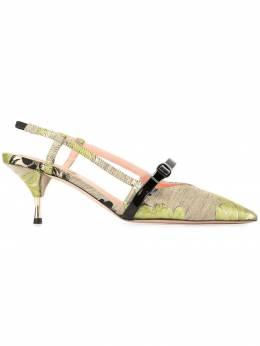 Rochas - туфли-лодочки с цветочным узором 0633D966693806806000