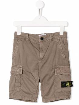 Stone Island Junior - шорты с карманами карго 696L6969939586660000