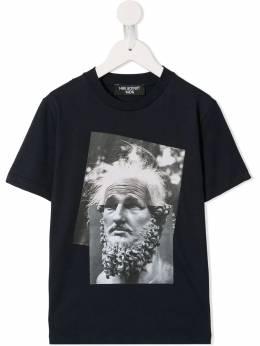 Neil Barrett Kids - футболка Einstein Marble 35893955596000000000