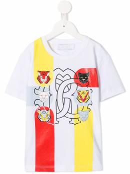 Roberto Cavalli Junior - футболка с принтом 65BJV605939833680000