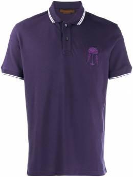 Corneliani - рубашка-поло с вышитым логотипом 53099056569393939800