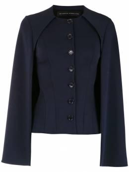 Gloria Coelho блузка на пуговицах с кейпом I19D006