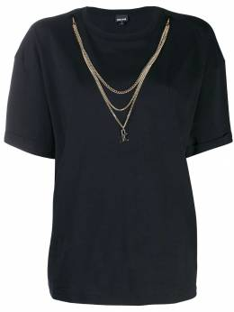 Just Cavalli футболка с цепочным декором S02GC0361N21401