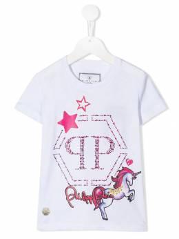 Philipp Plein Junior - декорированная футболка CGTK6395PJY660N95695