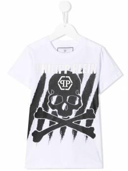 Philipp Plein Junior - футболка с принтом Skull CBTK6355PJY660N95695