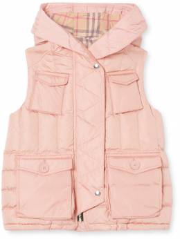 Burberry Kids down-filled hooded puffer gilet 8016652