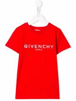 Givenchy Kids - футболка с логотипом 95399995936586000000
