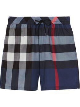 Burberry клетчатые плавки-шорты с кулиской 8013879