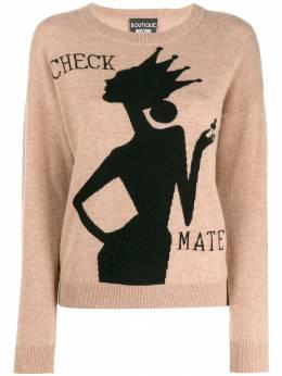 Boutique Moschino пуловер вязки интарсия A09126104
