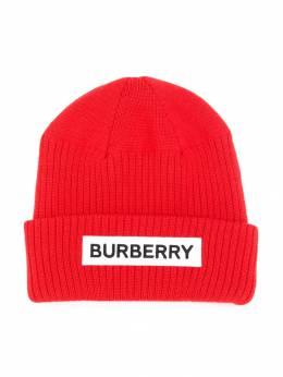 Burberry Kids - трикотажная шапка в рубчик 53609595558500000000