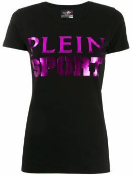 Plein Sport - футболка с логотипом металлик CWTK9385STE663N95689