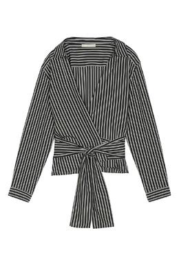 Запашная рубашка в полоску Maje 888133666