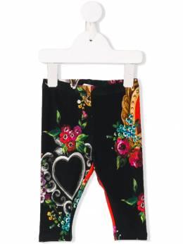 Dolce & Gabbana Kids - зауженные леггинсы с принтом P5BFSGQG933090360000