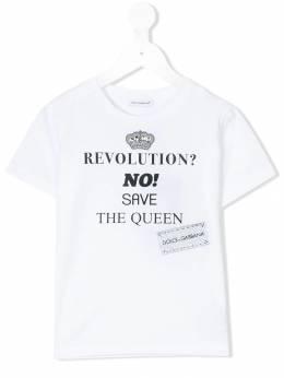 Dolce & Gabbana Kids футболка с принтом логотипа L5JTADG7MXK