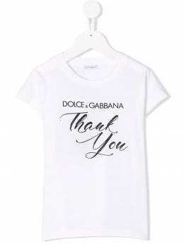 Dolce & Gabbana Kids - футболка с принтом Thank You TCVG3RXH938953590000