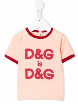 Dolce & Gabbana Kids - футболка с логотипом TCRG3RID956385600000
