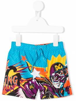 Dolce & Gabbana Kids - плавки-шорты с принтом 898G3SPN959969350000