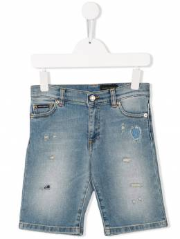Dolce & Gabbana Kids - джинсовые шорты из вареного денима Q33LD395935866800000