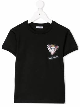 Dolce & Gabbana Kids - футболка с нашивкой 'Panda King' T3LG3QZR935893030000