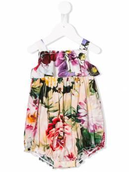 Dolce & Gabbana Kids - боди с запахом и цветочным принтом O59LA398936595850000