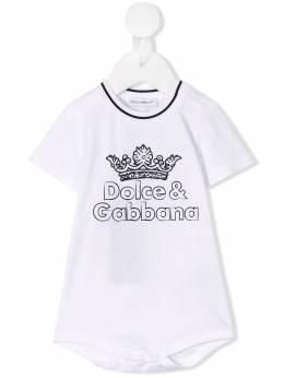 Dolce & Gabbana Kids - боди с логотипом O9IG3STG959583880000