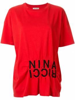 Nina Ricci - футболка с вышитым логотипом JTO669CO6909U0693950