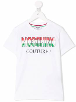 Moschino Kids - футболка 'Italian' с логотипом 605LAA69935553660000