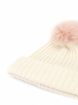 Yves Salomon - шапка бини с помпоном 06WAA503XXMARD950355