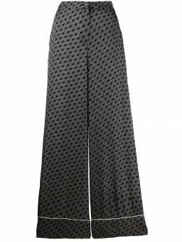 Twin-Set - брюки палаццо с логотипом TP058995050853000000