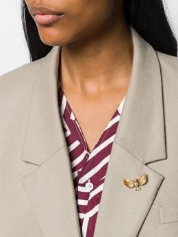 Susan Caplan Vintage - брошь A&S 1960-х годов в форме совы 69966950055600000000