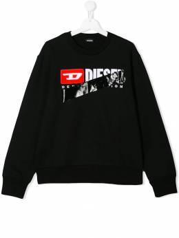 Diesel Kids толстовка с логотипом 00J4W40IAJH