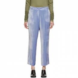 Sies Marjan Blue Corduroy Willa Fluid Cropped Trousers 192885F08700105GB
