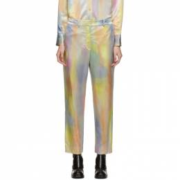 Sies Marjan Multicolor Satin Willa Cropped Trousers 192885F08700203GB
