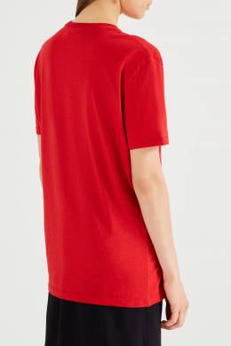 Свободная красная футболка с логотипом No. 21 35142716