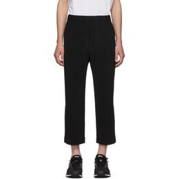 Homme Plisse Issey Miyake Black Pleated Trousers 192729M20001001GB
