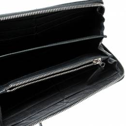 Balenciaga Anthracite Leather Continental Zip Around Wallet