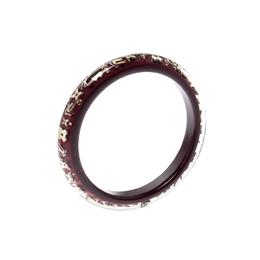 Louis Vuitton Purple Clear Resin Gold Tone Monogram Inclusion Bangle Bracelet 211615
