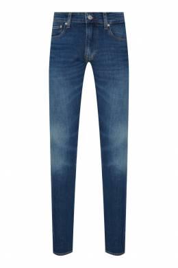Синие джинсы с потертостями Calvin Klein 596143094